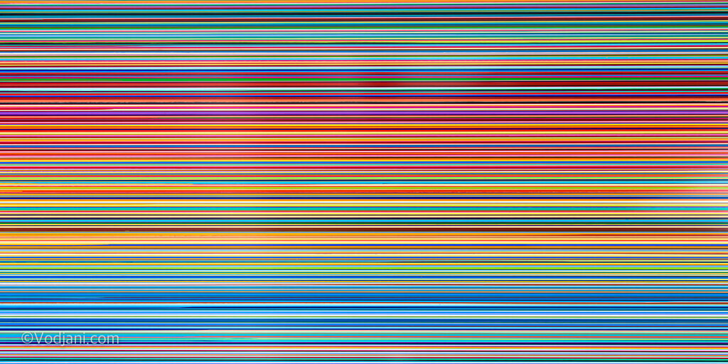 Multicolor vertical stripes